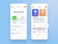 SendMoney Bank Investing finance app ui design uidesign uiux robots money management money transfer banking app bank fintech analytics dashboard interface design ui