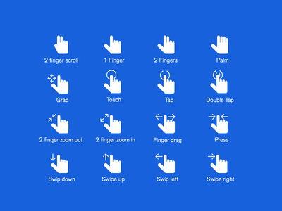 Hand Gestures PSD icons gestures psd free psd