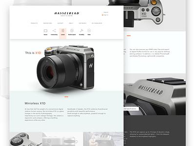 Hasselblad Xd1 About web ui design website