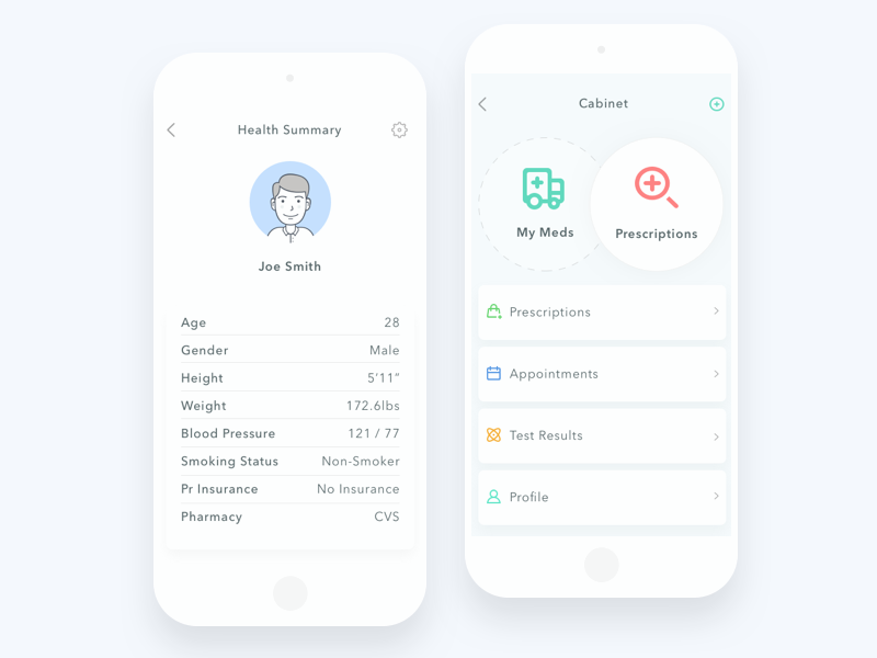 Health groups health profile android iphone ios