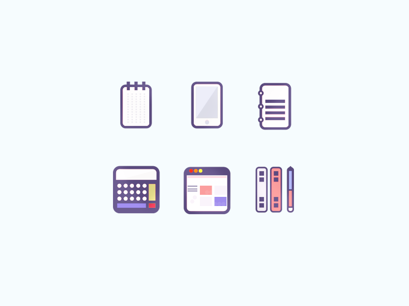 Office Icons Update pencil notepad ruler iphone calculator browser notebook icons icon