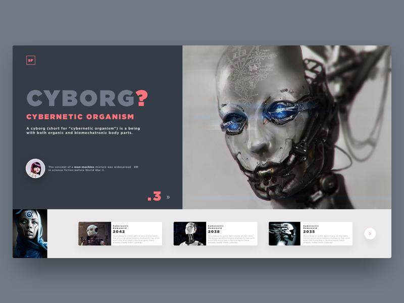Cyborg ui ux interface web website