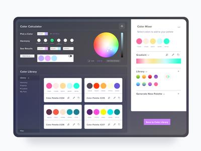 Color Calculator App web design website analytics dashboard interface web design ui