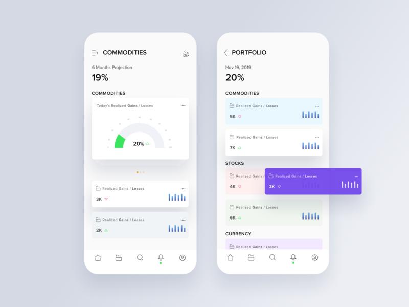 Portfolio ux  ui finance app fintech dashboard ios design ui