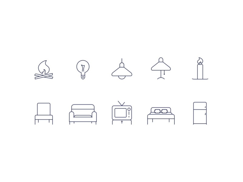 House house items house icons iconography icon set