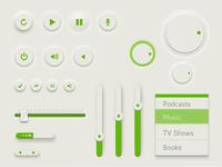 Green UI PSD