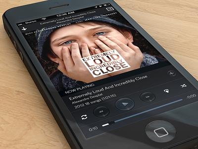 Player ios iphone iphone 5 design music rdio dark ui player