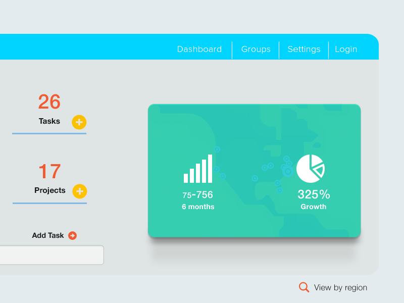 Trending ui web widget menu design inbox submit interaction