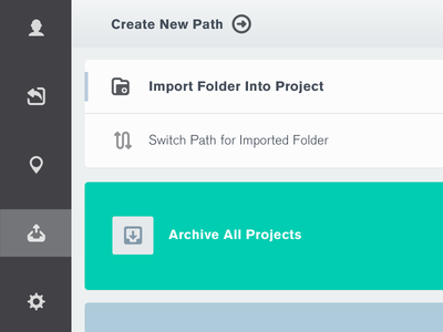 Archive ui web design interface interaction users upload dashboard archive batch
