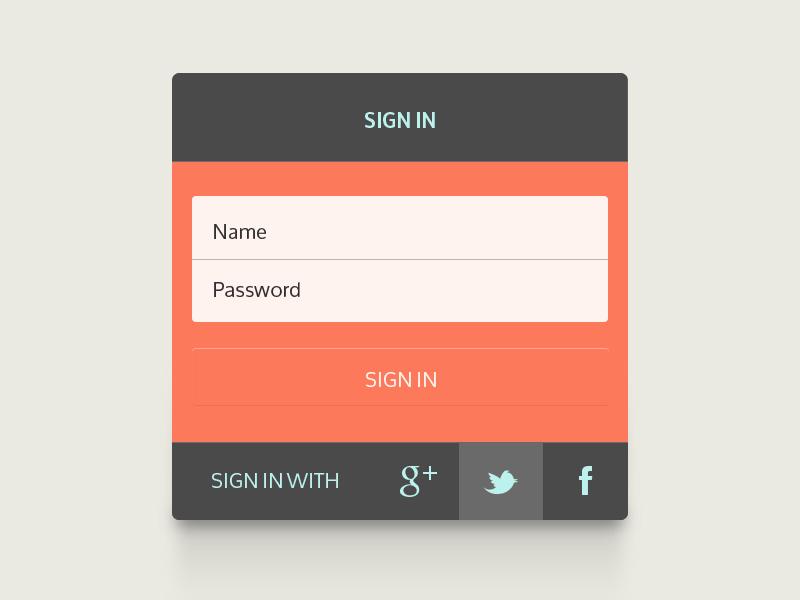 Sign In ui sign in web form inspiration flat design