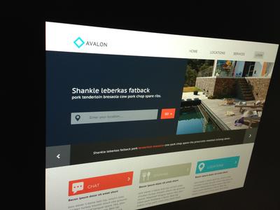 Avalon Site ui web design interface interaction architecture accommodation vacation dinning luxury lifestyle