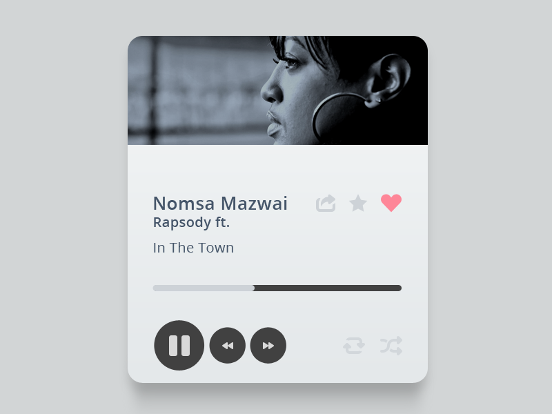 Music ui widget music design web player music player batch