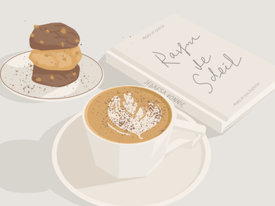 coffee time food drawing illustration design