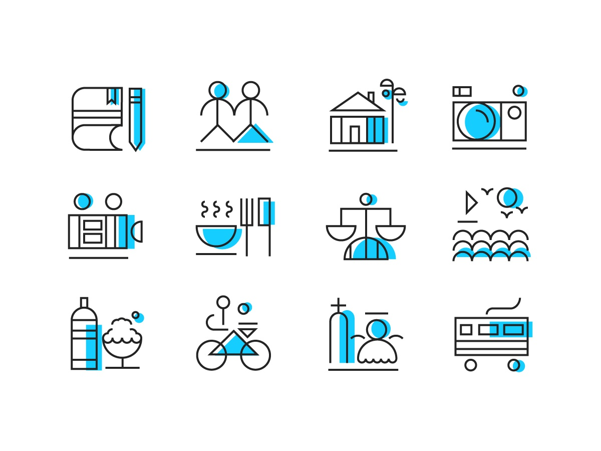 icons about the city i love. app ui