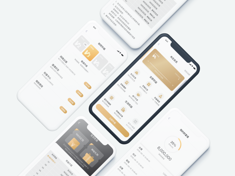 UI of custom system finance design ios ux ui app