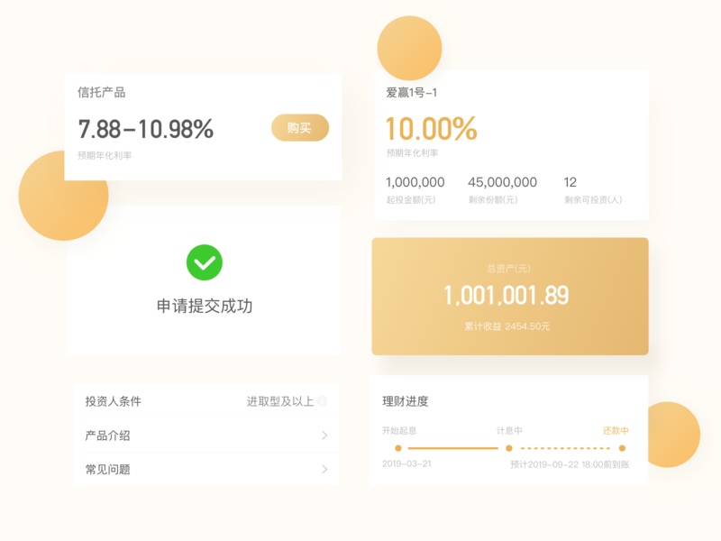 finance app loan illustration finance design ios ux ui app