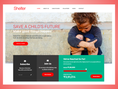 Charity Homepage designercize webdesign ux ui donation save child red homepage charity