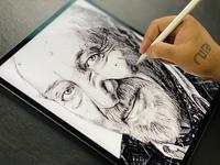 Digital Illustration of Milton Glaser procreateapp drawing procreate art digital illustration digitalart procreate branding artist illustration art