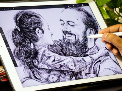 Dad Love - iPad Drawing digital drawing procreate sketch ipad pro artist drawing design studio designer rapidgems illustration art