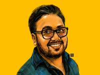 Self portrait artist procreate digitaldrawing art illustration portraitdrawing self portrait