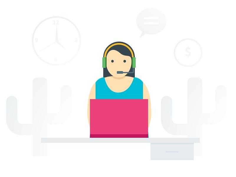 Helpdesk System support system support 24 hours color illustration helpdesk