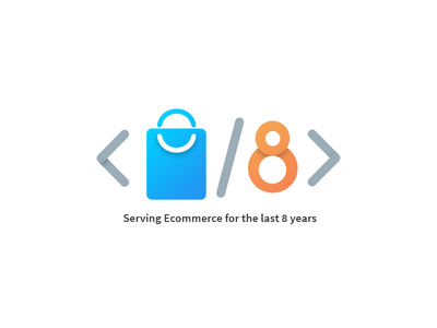 Code Development Company for 8 years in eCommerce industries photoshop illustration gradient coding 8years webkul
