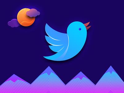 Twitter Follow us savi webkul photoshop illustration isometric follow us promotion twitter