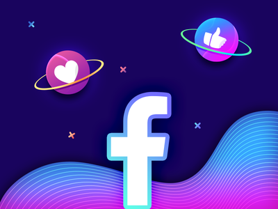 Facebook Promotion astronaut space outline offset style comment post facebook