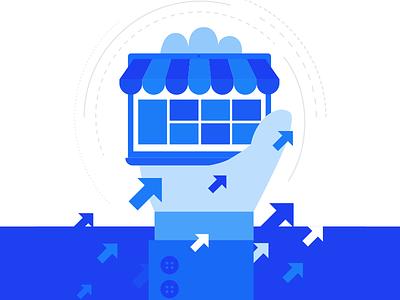 Marketplace Guide monotone illustration webkul-design webkul start setup guide cover marketplace