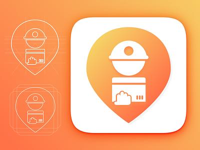 Delivery Boy App Icon hyperlocal delivery-boy savi mobikul gradient design app app-icon webkul illustration