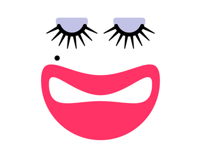 Puss face avatar simple logo vector eye