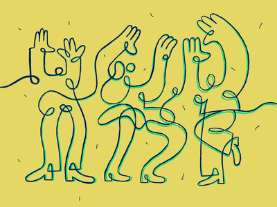 Loopy Party animation illustration dance party zajno