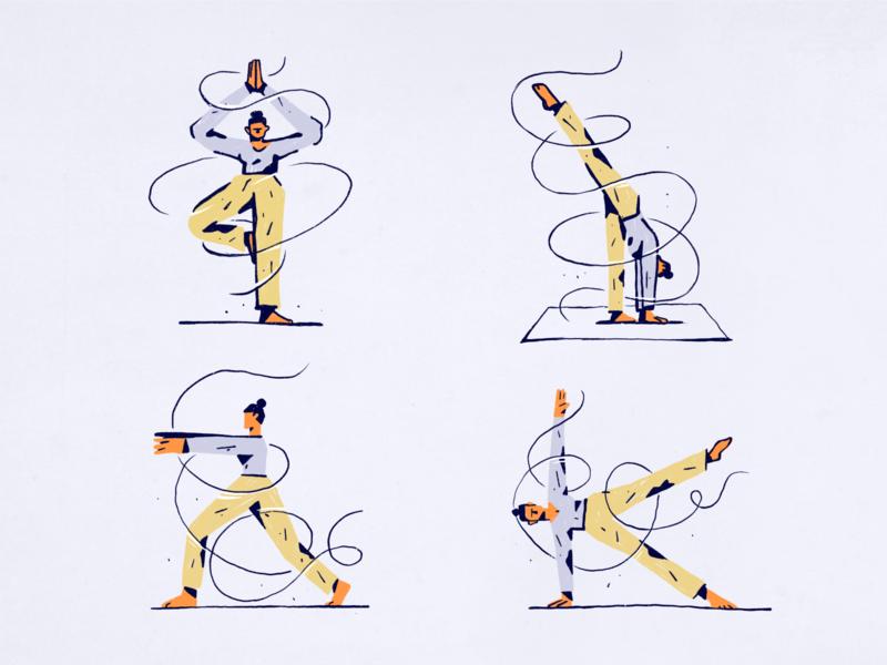 Illustrations for Sport at Home Web App
