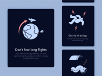 Illustrations for a Mobile App to Beat Jet Lag
