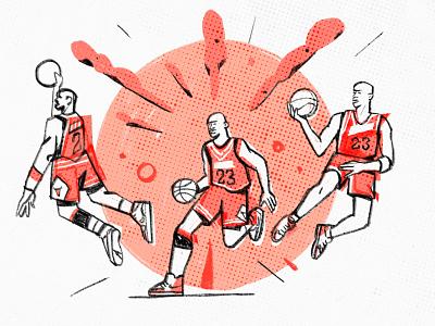 The Last Dance sport basketball character design jordan character illustration