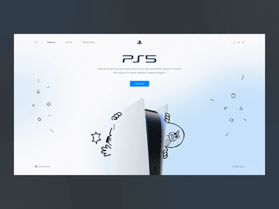 PlayStation 5 Promo Website doodle game playstation ps5 character illustration