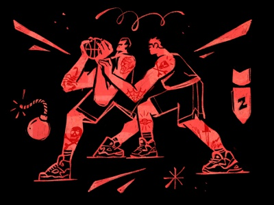 The Mighty Basketball Illustration inspiration move ball power basketball sports sport ipadpro ipad procreate character design zajno bright colors character illustration