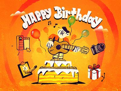 Now We Are Six birthday card happy anniversary 6 years old birthday love character design inspiration procreate ipad pro character illustration zajno