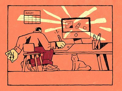 Vacation time! health holiday energy gif character inspiration procreate ipad pro character design illustration zajno