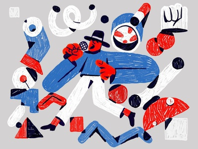 #00004 ipadproart procreate illustration character cigarette abstract singer