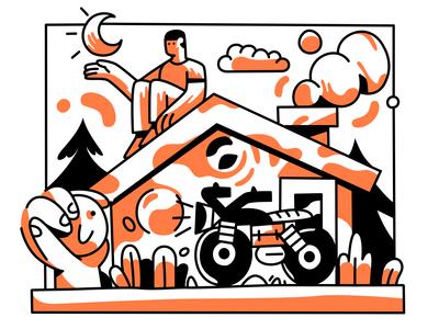 Dribbble Weekly Warm-Up: Hometown Sticker