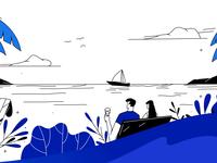 Illustration for a Travel Reward Credit Card Service Website