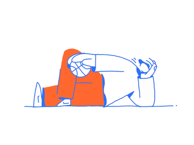 """""""Summertime Radness"""" Animated basketball sports character design sport frame by frame cel animation illustrated creative simple minimal drawing animated flat art character animation procreate ipad pro inspiration illustration zajno"""