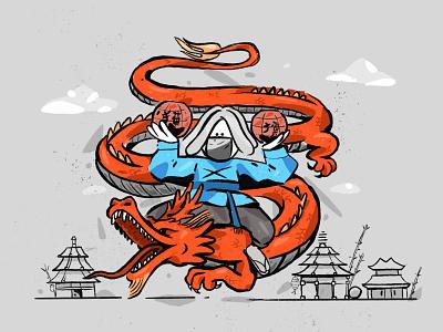 Chinese New Year flat illustration design character zajno