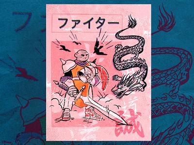 Warriors Wear Air Jordan I warrior print poster illustration character zajno