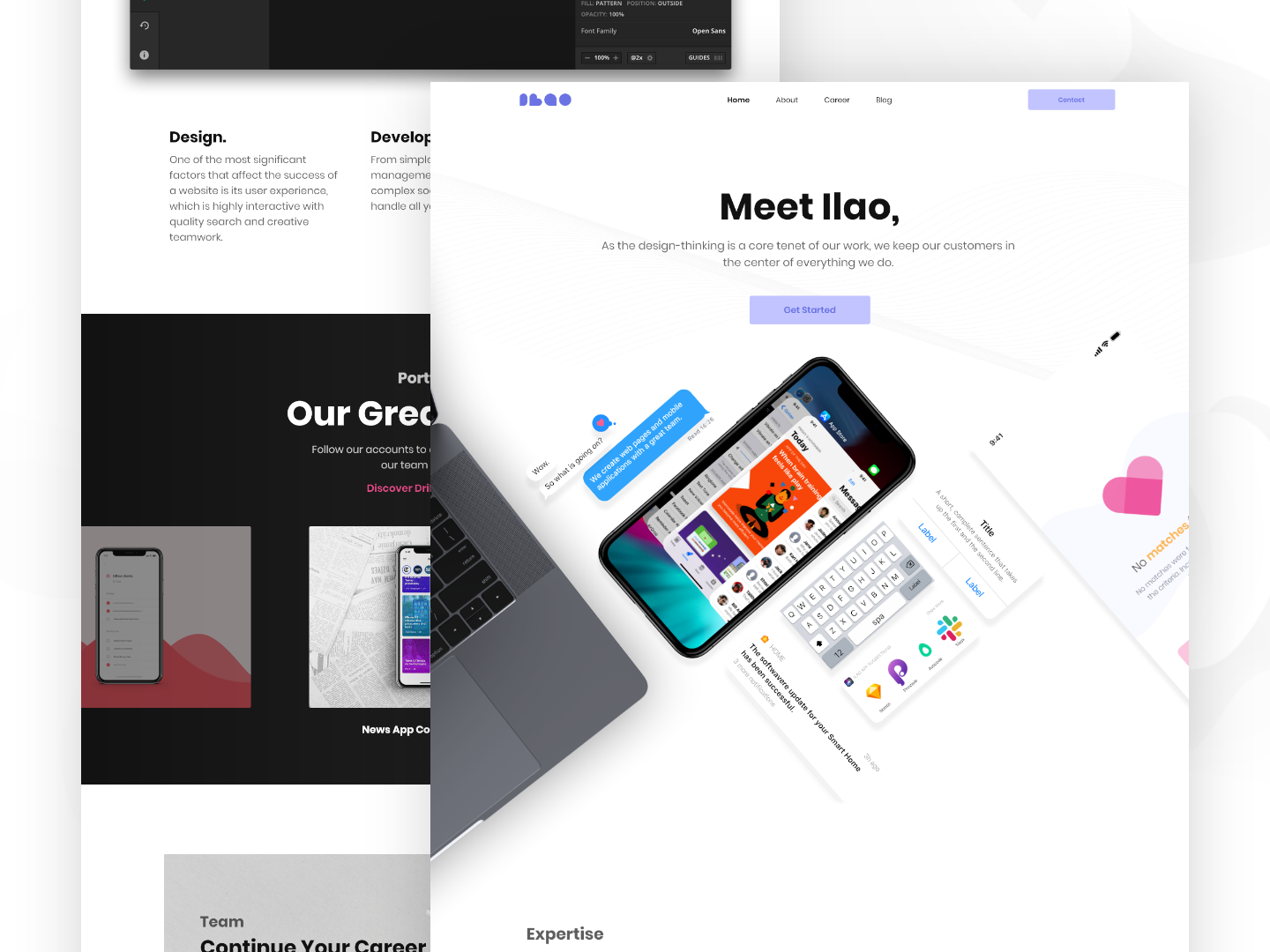 Ilao Co New Landing Page Design tools userinterface website page design app landing ui creative product interface agency uiux digital