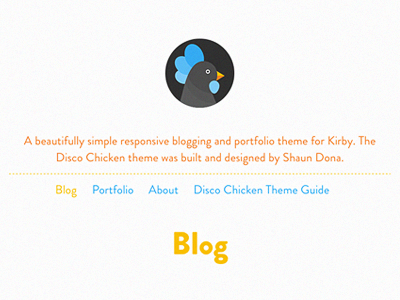 Disco Chicken Kirby Theme kirby cms chicken site theme