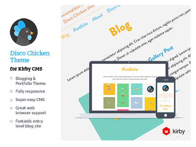 Discochicken Product Template kirby cms chicken site theme