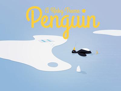 Penguin Kirby CMS theme illustration website kirby theme penguin