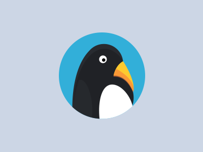Penguin illustration logo